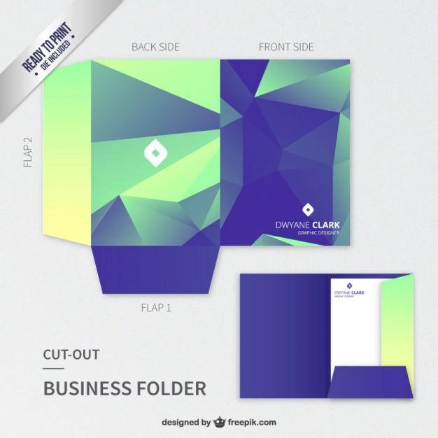 polygonal-cut-out-business-folder_23-2147528089