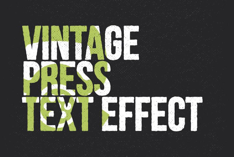 vintage-press-text-effect