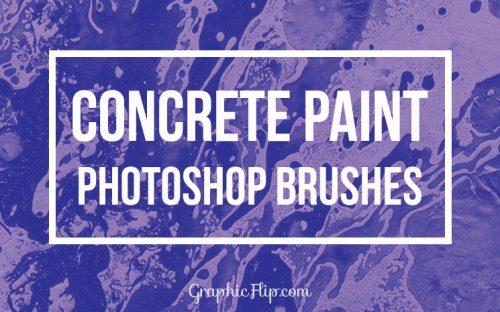 Free Download: Concrete Paint Photoshop Brushes