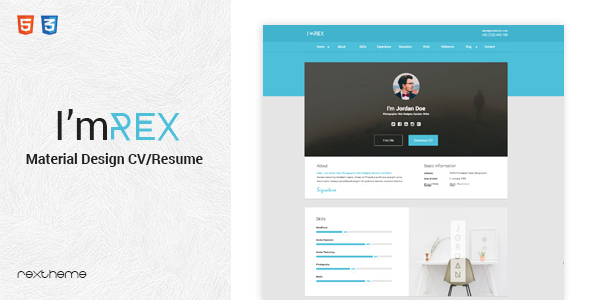 21 Professional HTML & CSS Resume Templates for Free Download (and ...