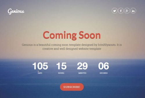 coming soon html templates