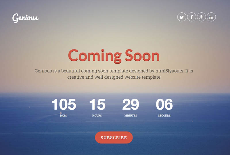 25 best coming soon html templates for free download and for Simple under construction html template