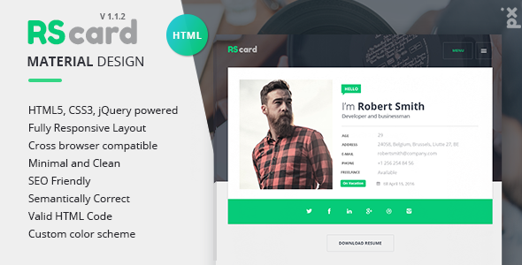 23 Professional Html & Css Resume Templates For Free Download (And
