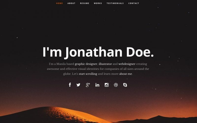 21 Professional HTML & CSS Resume Templates for Free Download (and Premium)