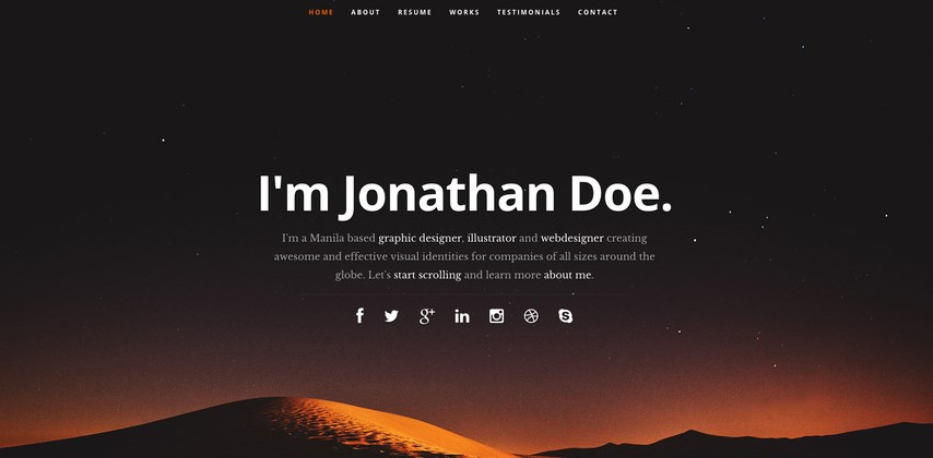 Nice 21 Professional HTML U0026 CSS Resume Templates For Free Download (and Premium)    Super Dev Resources