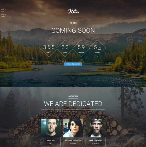 kite-coming-soon-responsive-bootstrap-template