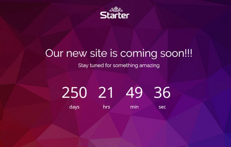 starter html5 coming soon web template
