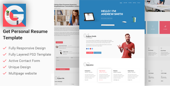 Resume Template Website Simplicity Cv Is A Onepage Theme That Is