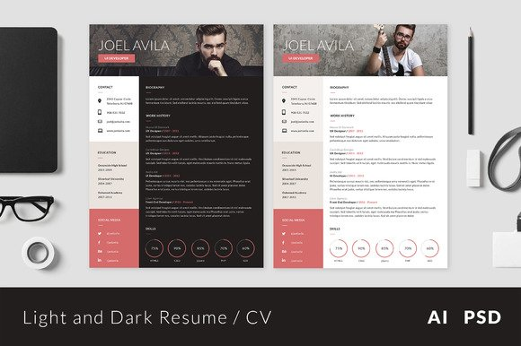 15 material design resume templates for the perfect first impression