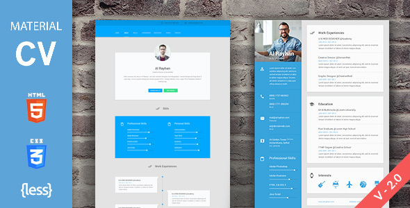 15 Material Design Resume Templates for the Perfect First Impression ...