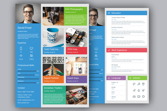 Material Design Resume Templates