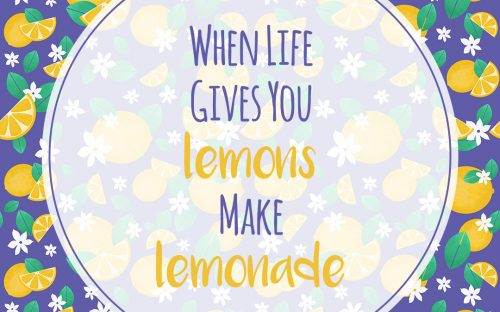 When Life Gives You Lemons Make Lemonade – Motivational Quote Poster