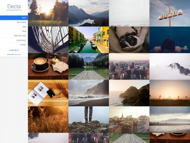 electa wordpress theme photographers