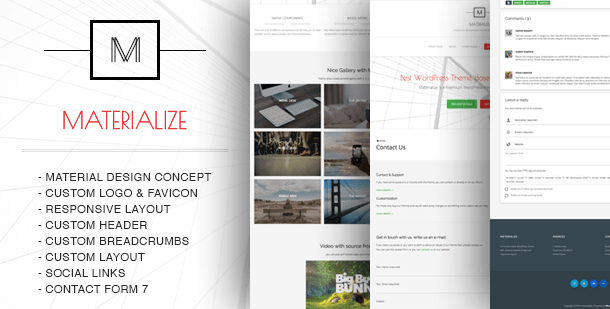 materialize-free-wordpress-theme
