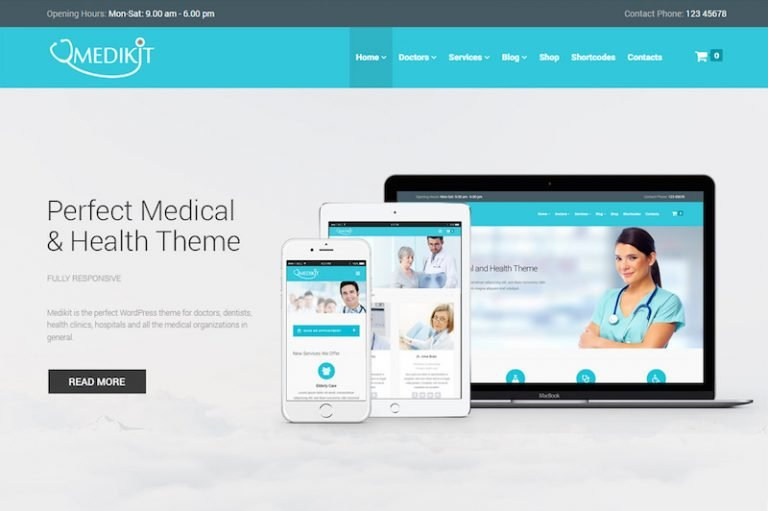 medikit medical wordpress theme