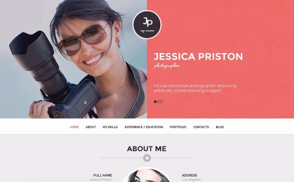 photographer-cv-wordpress-theme