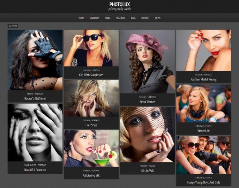 photolux photography portfolio theme