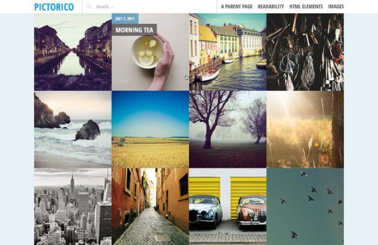 pictorico photoblogging theme
