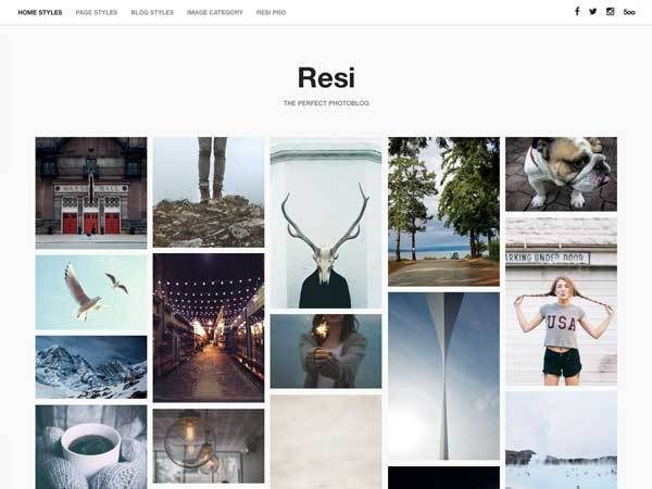 resi-photoblog-wordpress-theme
