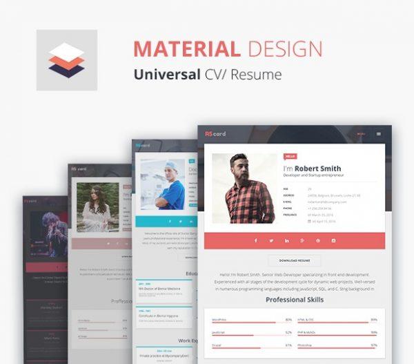 rscard-material-design-portfolio-theme