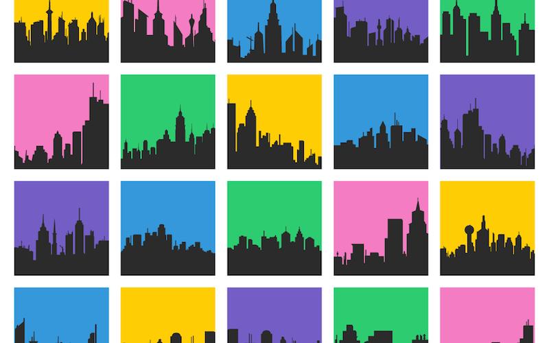 Free Download: 26 City Skyline Vectors (AI, EPS, SVG, PSD & PNG)
