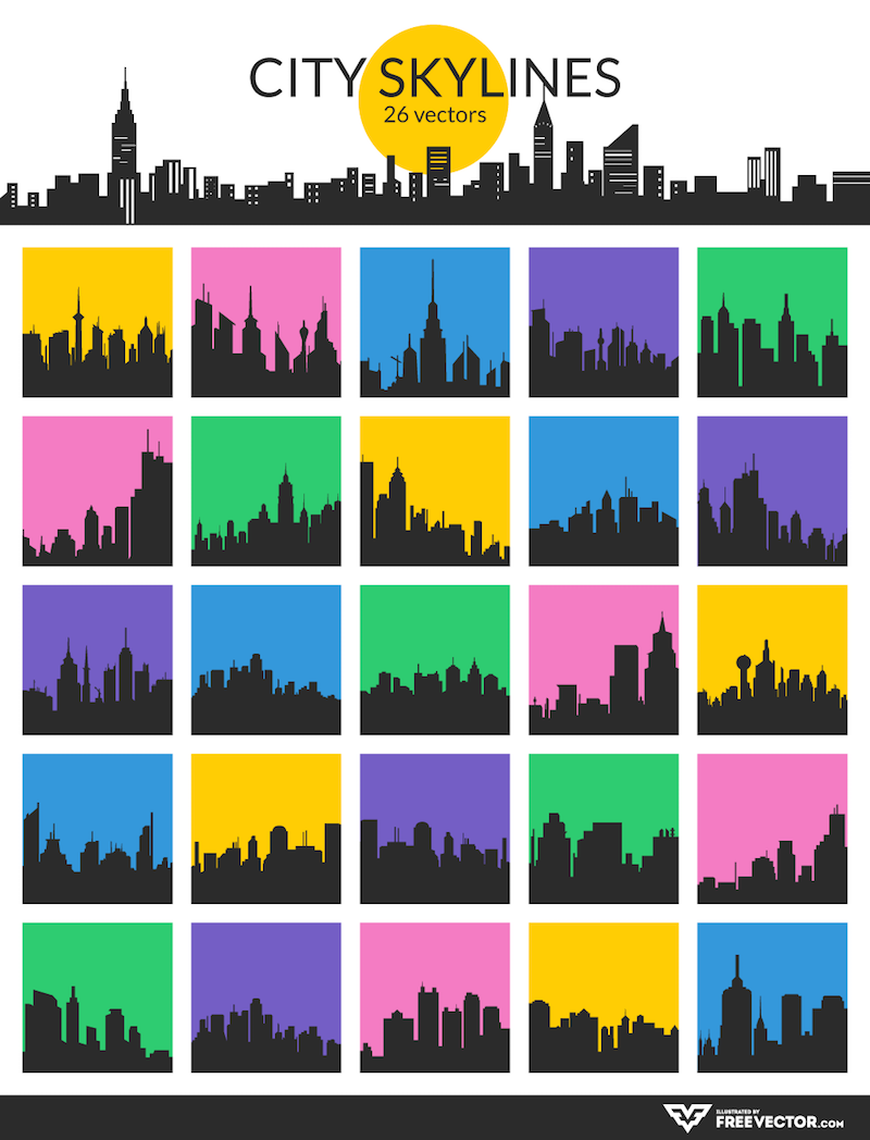 City Skyline Vectors Preview