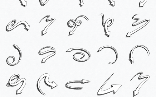 27 Free Hand Drawn Arrow Vectors