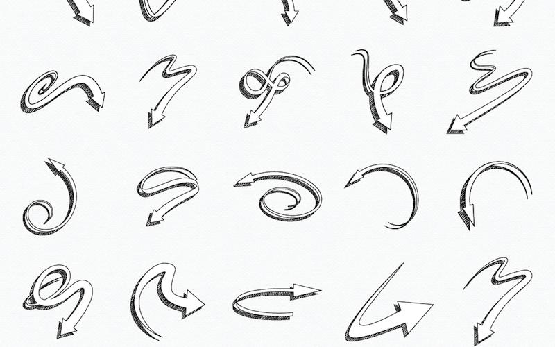 27 Free Hand Drawn Arrow Vectors