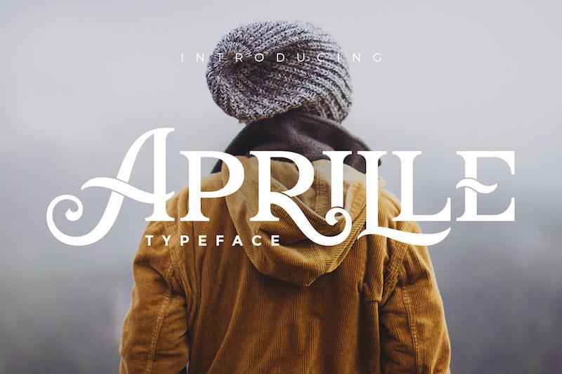 aprille-display-vintage-font