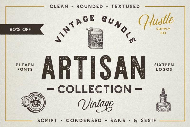 artisan vinatge font bundle