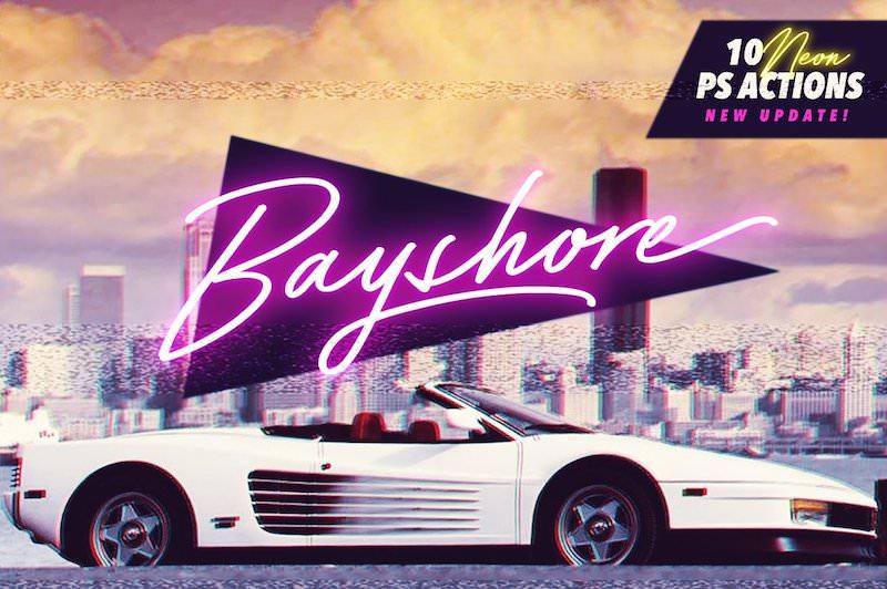 bayshore script font 1980s