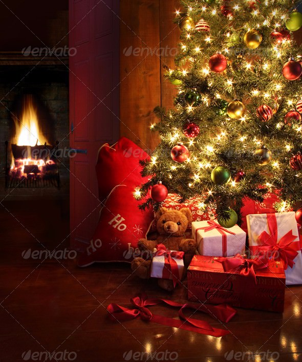 christmas-scene-tree-fire
