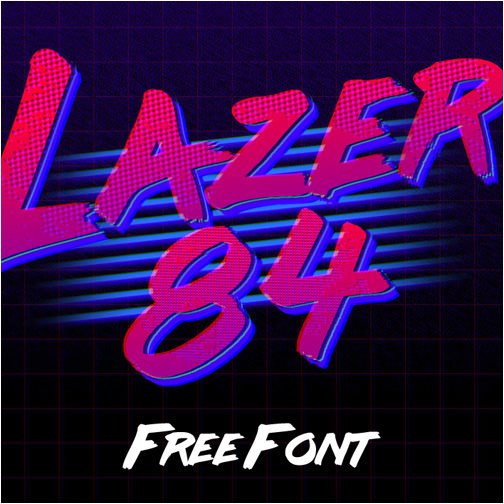 lazer-84-retro-brush-font