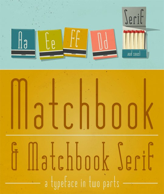 matchbook-free-retro-fonts