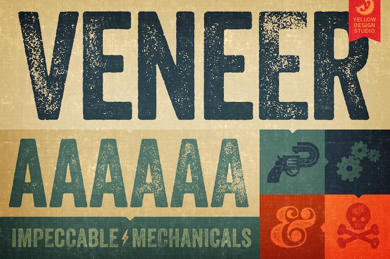 veneer-vintage-letterpress-font