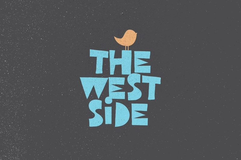 west side free 1980s font