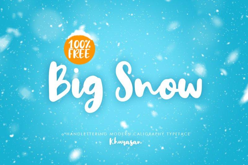 Big Snow free Font Khurasan