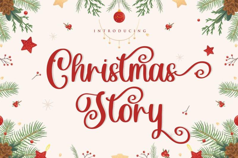 Christmas Story free Font fikryal