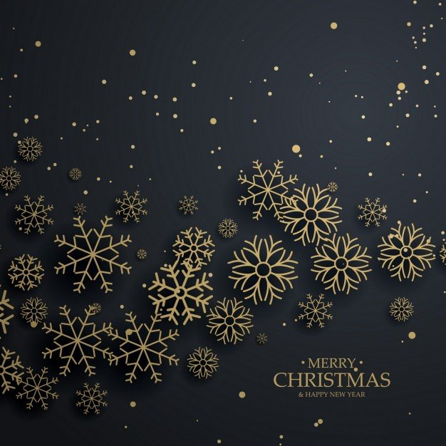 black-christmas-background-with-golden-snowflakes