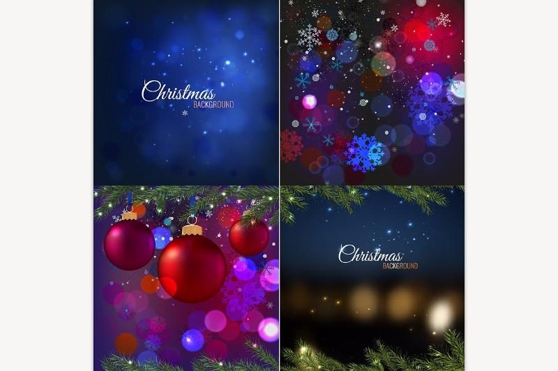 christmas-background-set