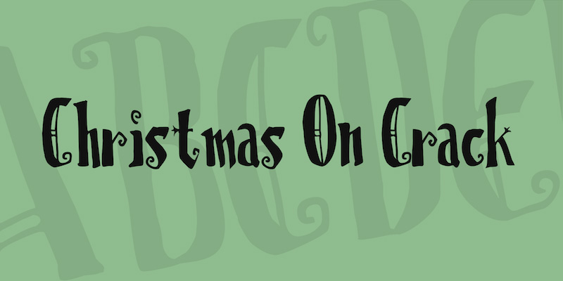 Christmas on Crack free font with a gothic touch
