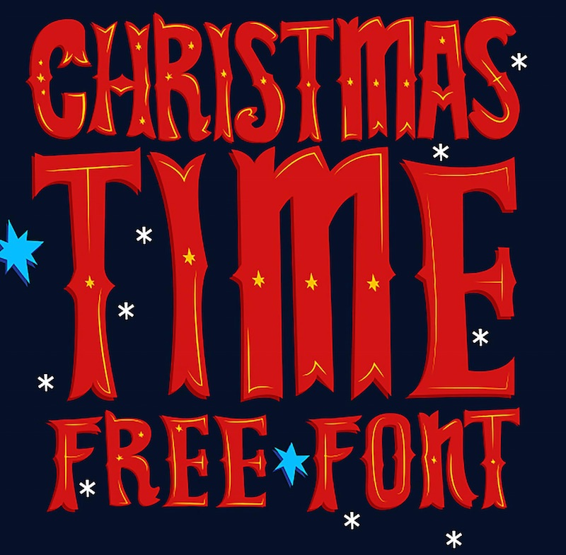 christmas time display font free - Christmas Fonts Free