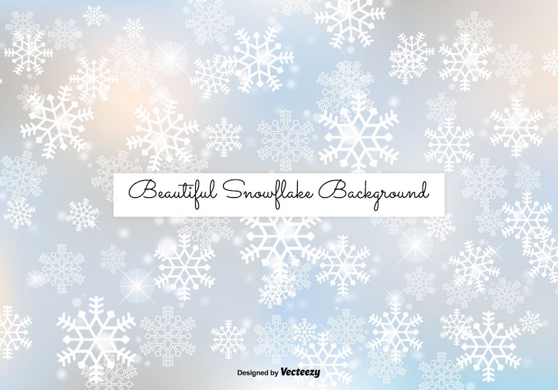 free-snowflake-background-vector