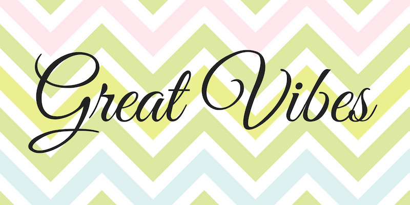 Great Vibes Is An Elegant Cursive Font With Flowing Connected Letters Its Uppercase Sport Beautiful Curly Swashes Created By TypeSETit This