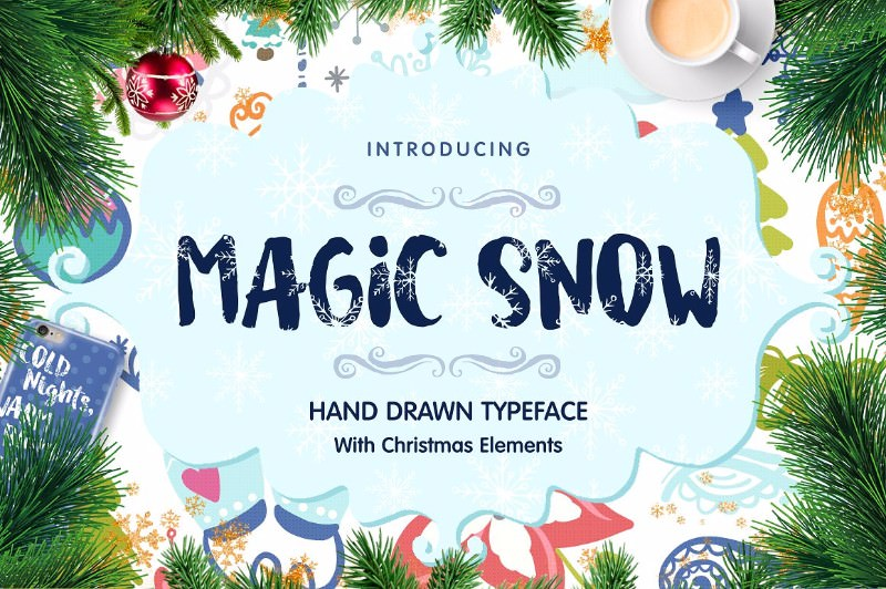 magic-snow-christmas-typeface
