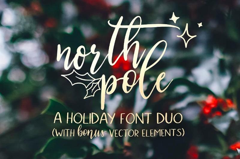 north-pole-holiday-font