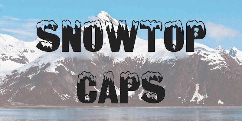 snowtop-caps-font