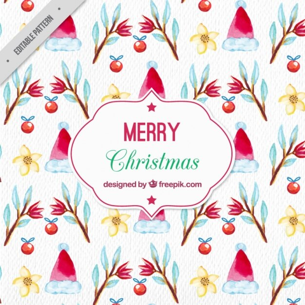 watercolor-christmas-pattern