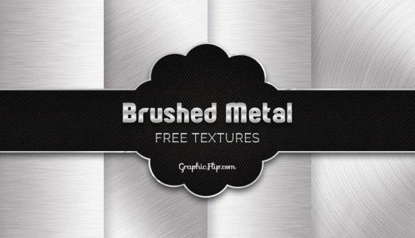 4 free brushed metal textures