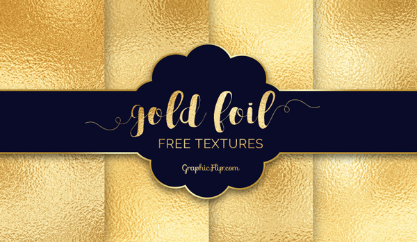 Free Photoshop Textures of Gold Foil